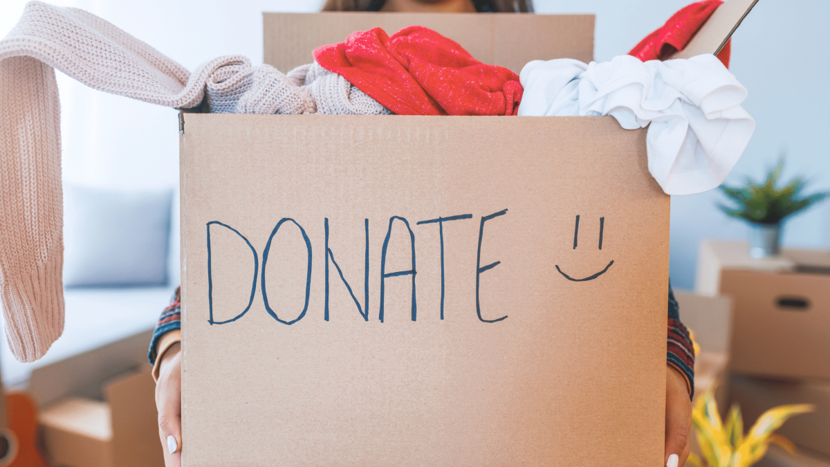 donations from a hoarded house