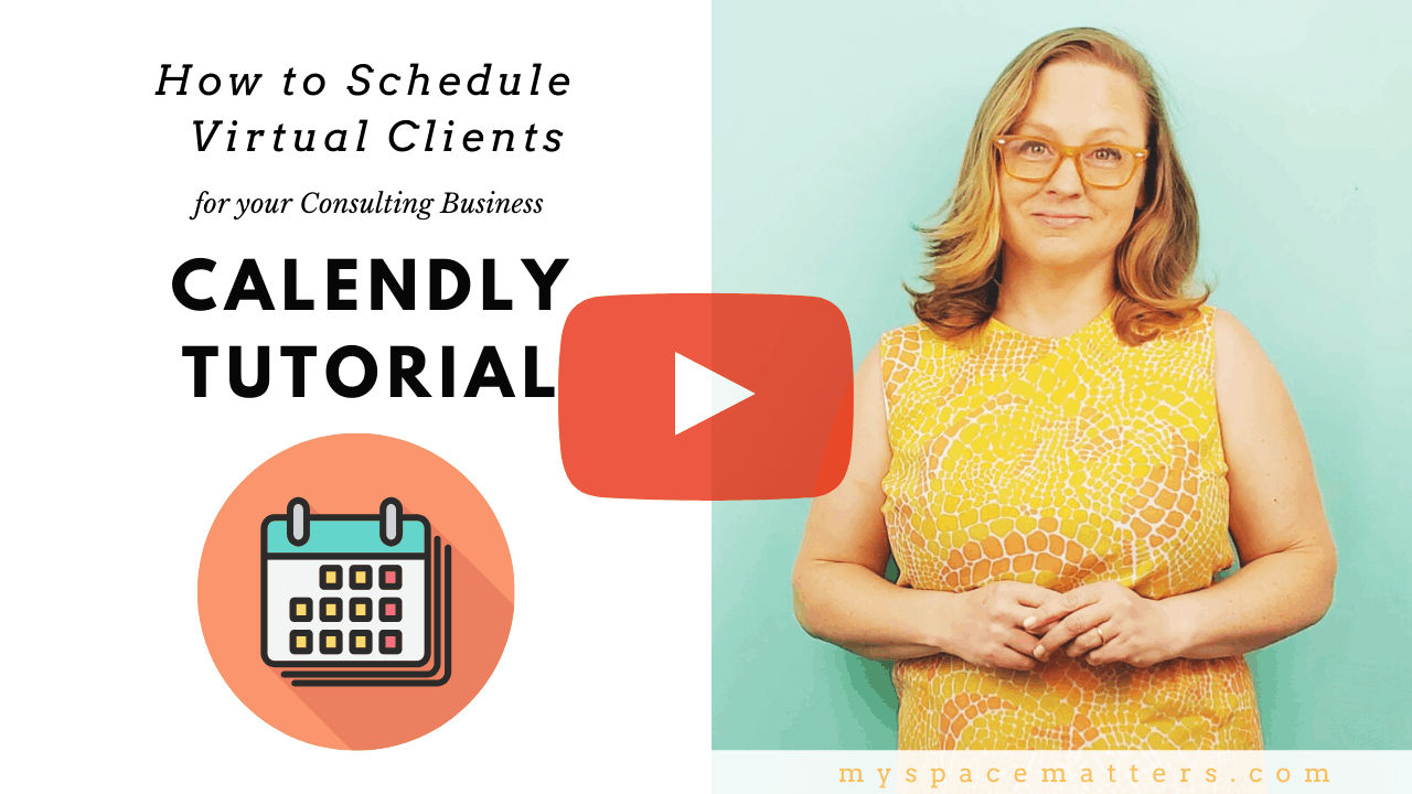 How to Schedule Virtual Organizing Services Through Calendly